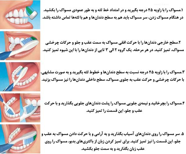 آموزش مسواک زدن   مجتمع سلامت تهران